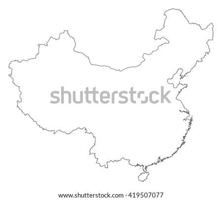 Map - China - stock vector