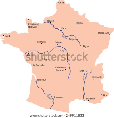 map France - stock vector