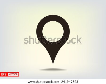 map icon - stock vector