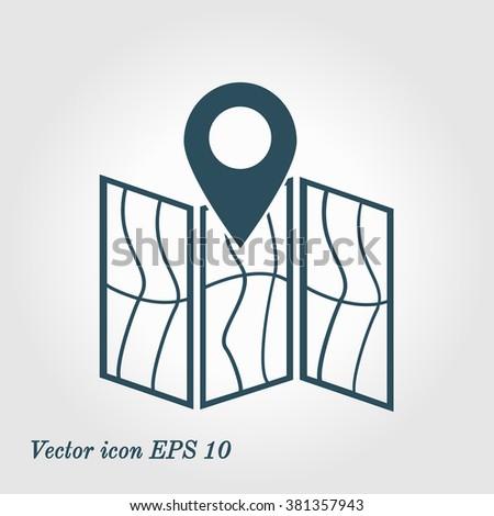 Map Icon Location Symbol Stock Vector