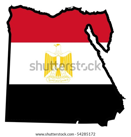 map in colors of Egypt - stock vector