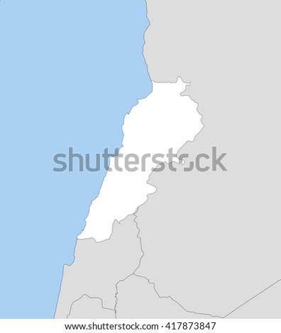 Map - Lebanon - stock vector