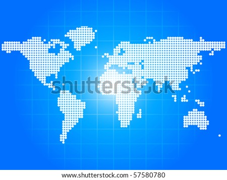 map made of dots - stock vector