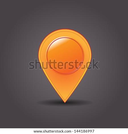 Map marker - stock vector