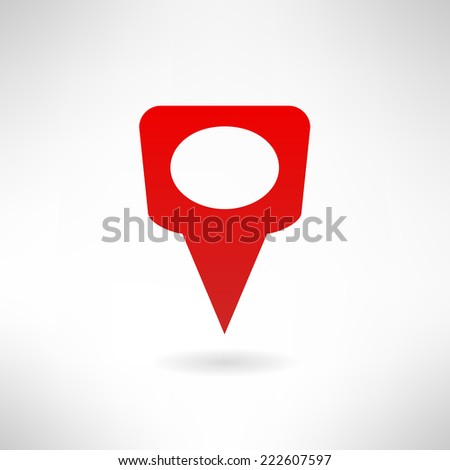 Map marker icon made in modern flat design. Location concept. Vector illustration - stock vector