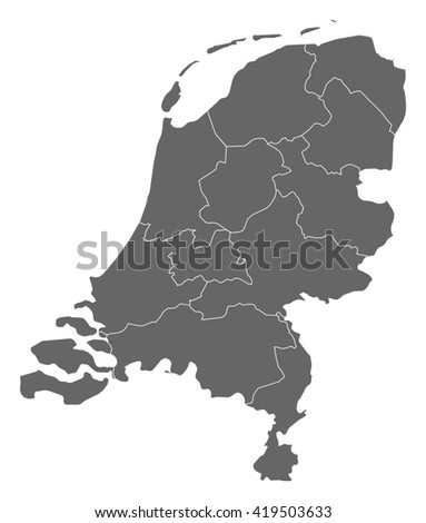 Map - Netherlands - stock vector
