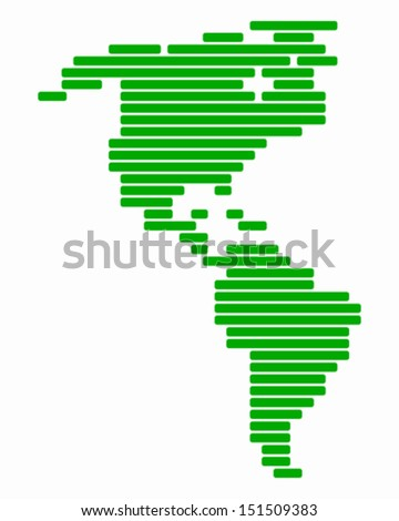 Map of America - stock vector
