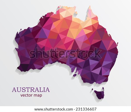 map of australia.. Vector illustration - stock vector