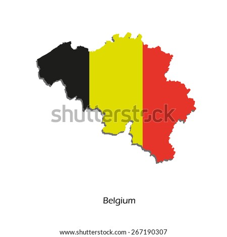 Map of Belgium for your design, concept Illustration. - stock vector