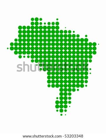 Map of Brazil - stock vector