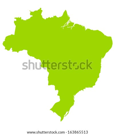 map of brazil. High detailed vector map - stock vector