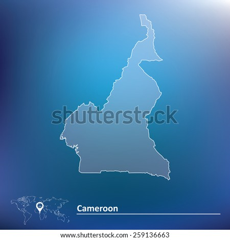 Map of Cameroon - vector illustration - stock vector