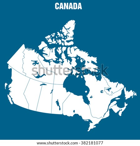 Map of Canada - Illustration - stock vector