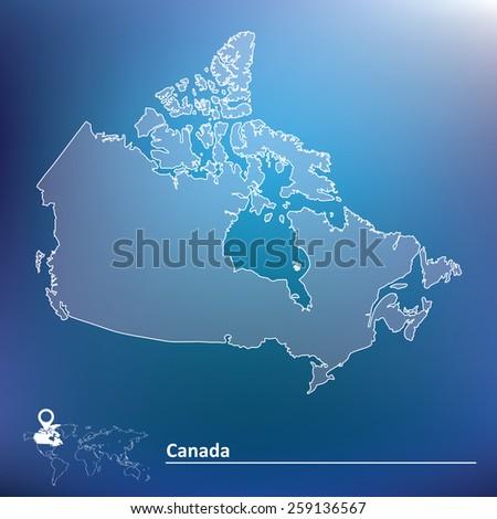 Map of Canada - vector illustration - stock vector