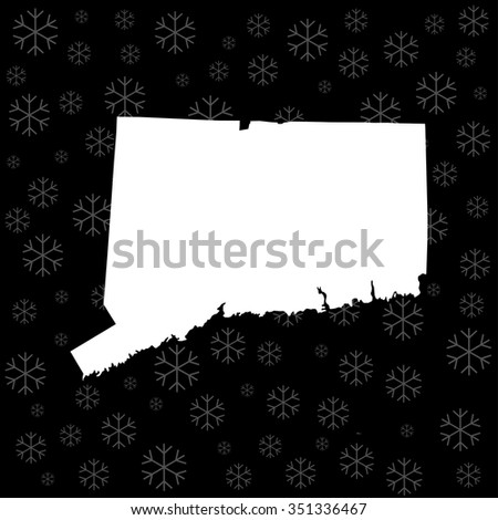 map of Connecticut - stock vector