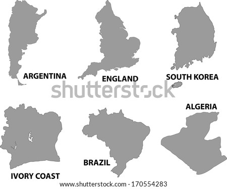 Map of countries worldwide. - stock vector