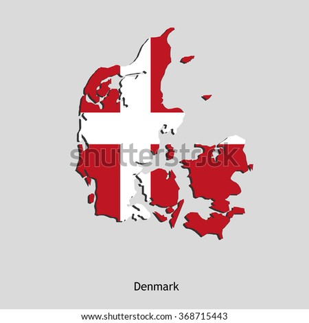 Map of Denmark for your design, concept Illustration. - stock vector