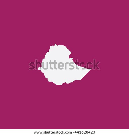 Map of Ethiopia Vector Illustration - stock vector