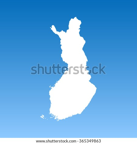 map of Finland - stock vector