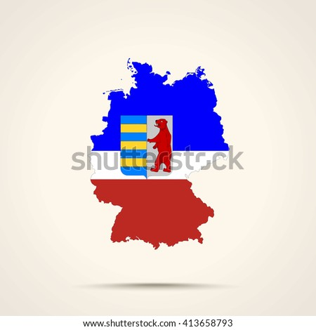 Map of Germany in Carpathian Ruthenia flag colors