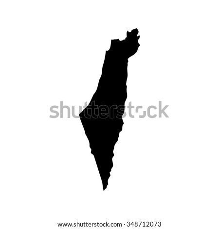 Map of Israel - stock vector