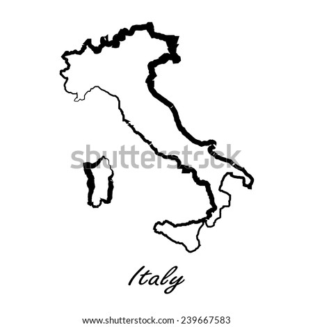 Map of Italy for your design, concept Illustration. - stock vector