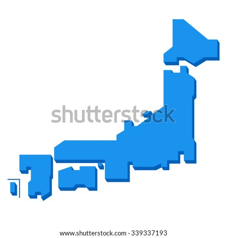Map of Japan - stock vector