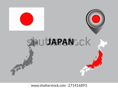 Stock Images Similar To ID Japan Map Isolated On White - Japan map 3d