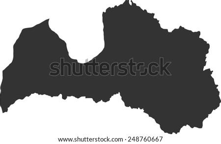 Map of Latvia - stock vector