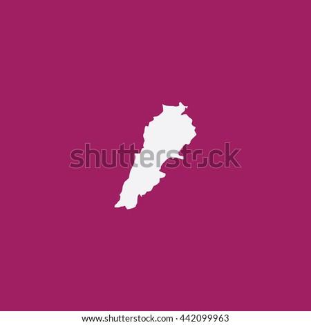 Map of Lebanon Vector Illustration - stock vector