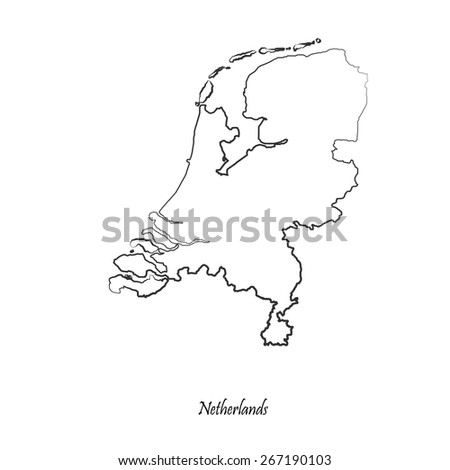 Map of Netherlands for your design, concept Illustration. - stock vector