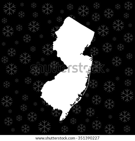 map of New Jersey - stock vector