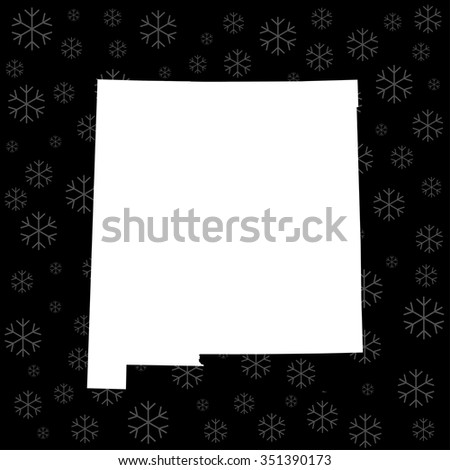map of New Mexico - stock vector