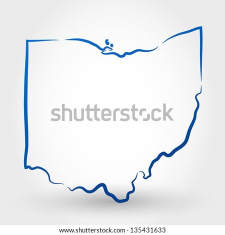 map of ohio. map concept - stock vector