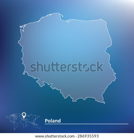 Map of Poland - vector illustration - stock vector