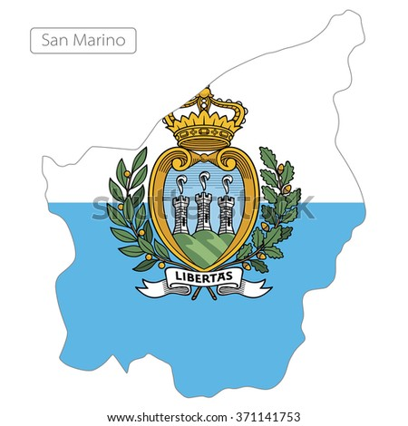 map of San Marino with the flag. Europe - stock vector