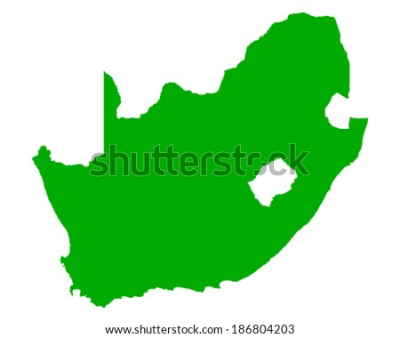 Map of South Africa - stock vector