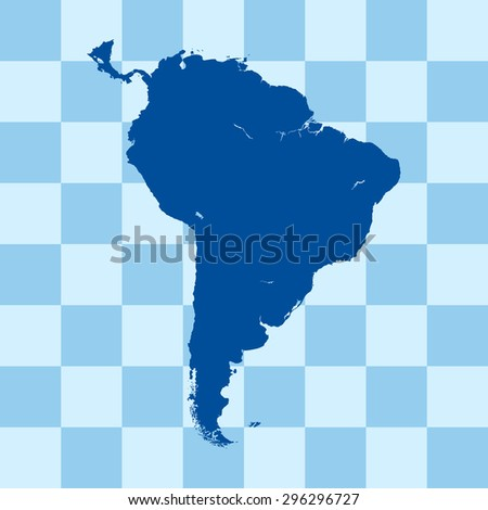 map of South America - stock vector
