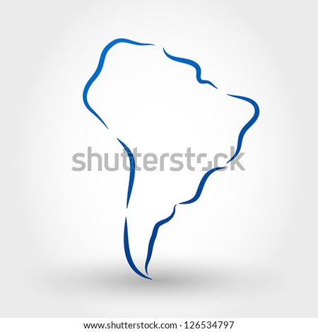 map of south america. map concept - stock vector