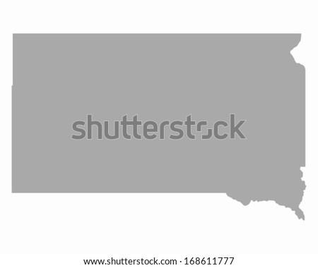 Map of South Dakota - stock vector