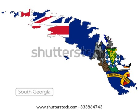 map of South Georgia and the South Sandwich Islands  - stock vector