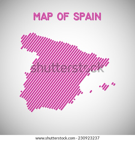 map of Spain. Transparency effects used. - stock vector