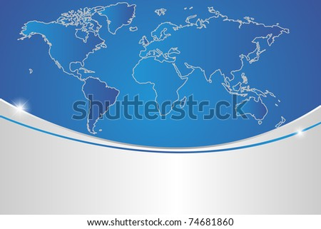 map of the globe - stock vector