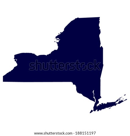 map of the U.S. state of New York  - stock vector