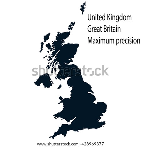 Map of the UK. Maximum precision. High detailed vector map - stock vector