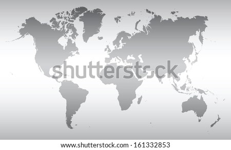 map of the world- grey colors - stock vector