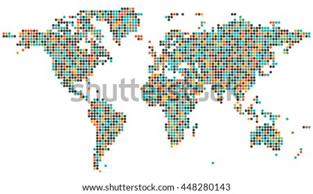 Map of the world vector. - stock vector