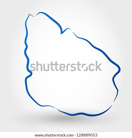 map of uruguay. map concept - stock vector