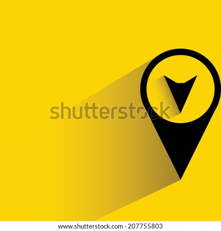 map pin, navigation button - stock vector