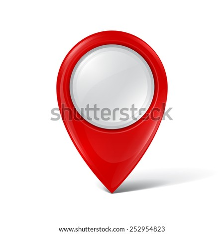 Map pointer - stock vector
